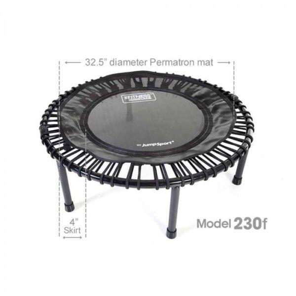 jumpsport js-230f foldable fitness trampoline dimension