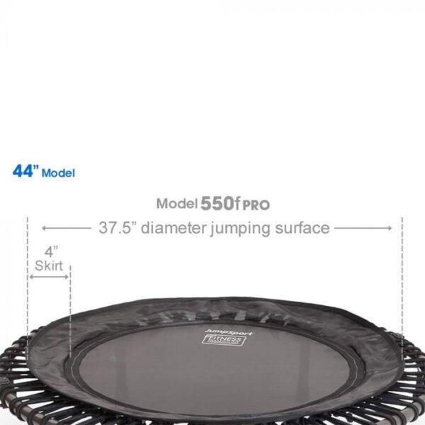 jumpsport js550f foldable pro fitness trampoline dimension