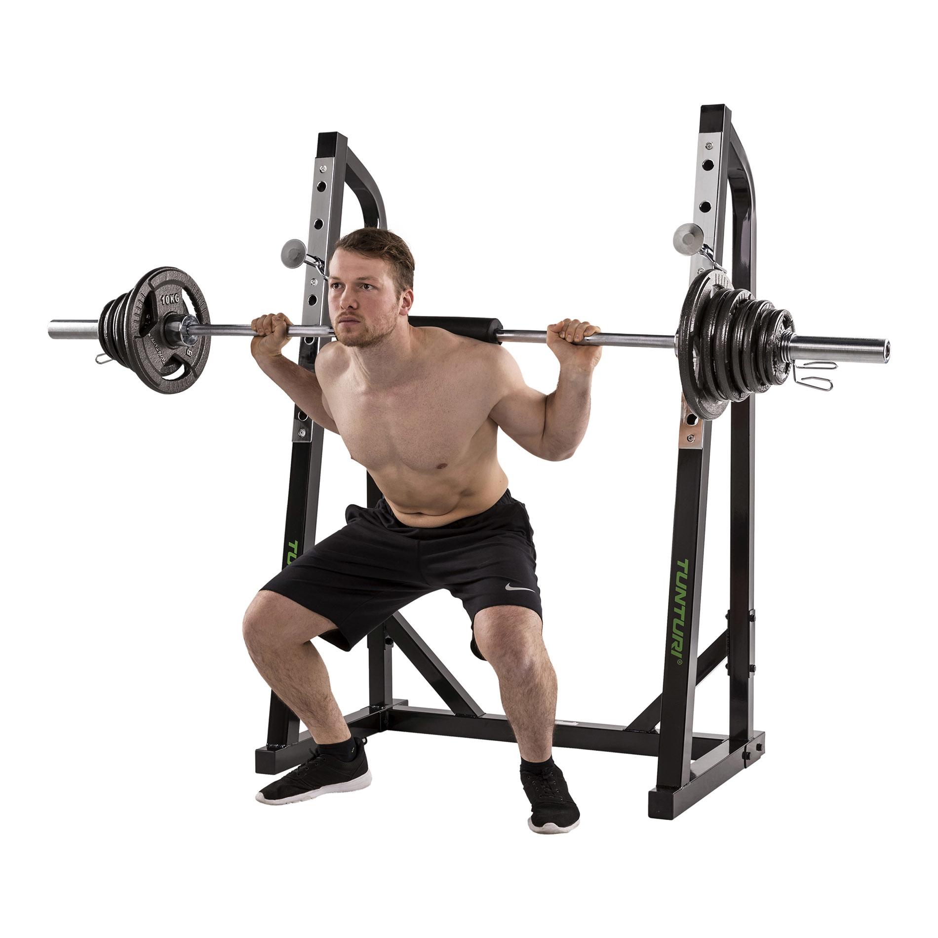tunturi squat rack wt40 demo